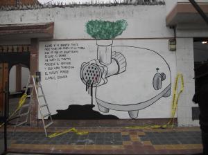 Artista busca pared