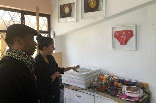 Visita de estudio a la artista Andrea Z. Rojas